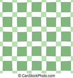 modello, seamless, green-white