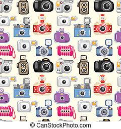 modello, seamless, macchina fotografica