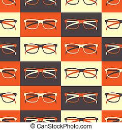 modello, seamless, occhiali