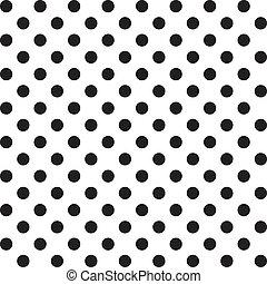 modello, seamless, punti, grande, polka