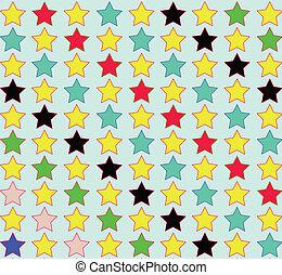 modello, seamless, stelle
