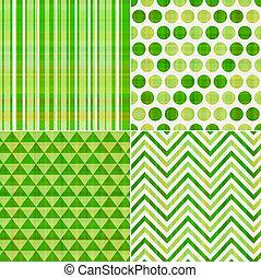 modello, seamless, struttura, verde