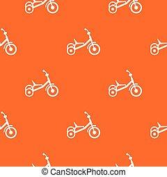 modello, seamless, triciclo