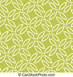 modello, seamless, verde bianco