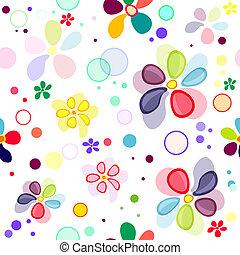 modello, seamless, vivido, floreale