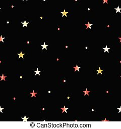 modello, stelle, nero, seamless, fondo
