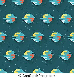 modello, stelle, seamless, pianeti