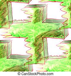 modello, struttura, murale, fondo, seamless, croce