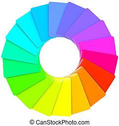 modello, swatch, spirale, colorito