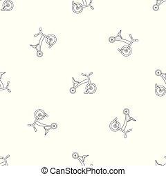 modello, triciclo, vettore, seamless, bambini