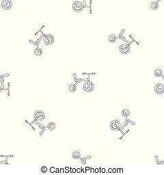 modello, triciclo, vettore, seamless, retro