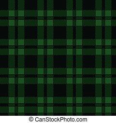 modello, verde, seamless, tartan