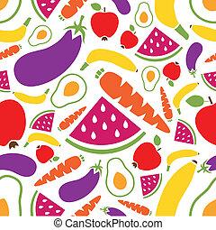 modello, verdura, seamless, frutte