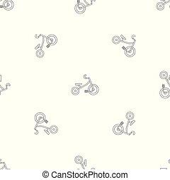 modello, vettore, seamless, capretto, triciclo