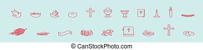 models., icona, cristiano, illustrazione, sagoma, fondo, cartone animato, disegno, vettore, set, isolato, vario, blu