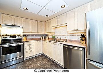 moderno, apparecchi, cucina