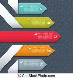moderno, bandiera, minimalistic, infographics