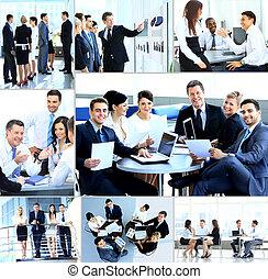 moderno, riunione, businesspeople, ufficio, detenere