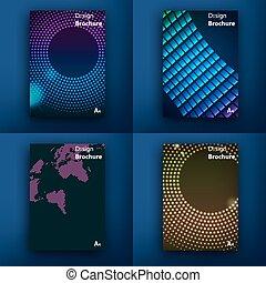 moderno, template., posta, saa, interface., web, web, concept., set, linea, appartamento, design., app, templates., s, disegno, brochures., ui, mobile, mobile, icons., tecnologia, infographic