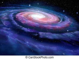 modo, galassia, spirale, illustrazione, latteo