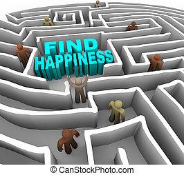 modo, trovare, felicità, tuo