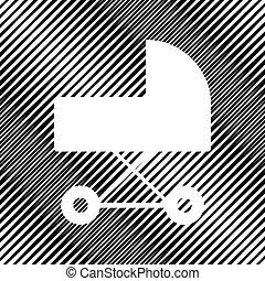 moire, illustration., segno, fondo., vector., buco, carrozzina, icon.