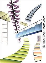 molti, differente, scale