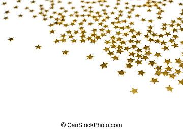 molti, stelle, dorato