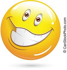 molto, felice, smiley fronteggiano