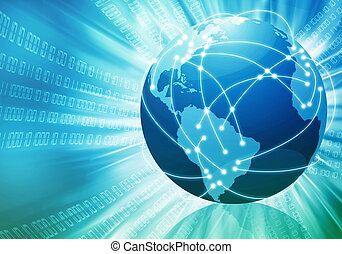 mondiale, concetto, internet