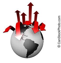 mondiale, internazionale, concetto, affari