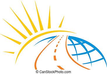 mondo, attraverso, strada