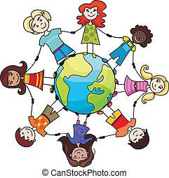 mondo, bambini