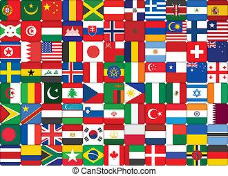 mondo, bandiere, fondo
