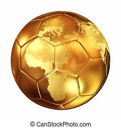 mondo, calcio, tazza, palla