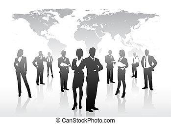 mondo, concetto, affari