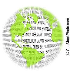mondo, concetto, verde