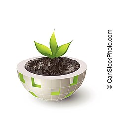 mondo, concetto, verde, idea