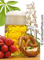 mondo, festival tedesco, vetro, monaco, oktoberfest, grande, birra, bavarese, famoso