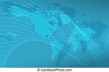 mondo, fondo, mappa, globo, concetto