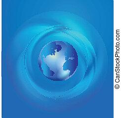 mondo, globale, commercio, comunicazione