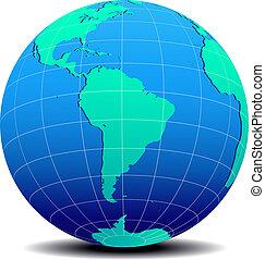 mondo, globale, sud america