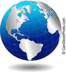 mondo, globale, sud nord, america