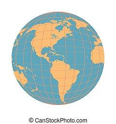 mondo, isolato, mappa terra, icona