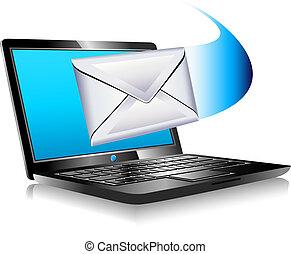 mondo, laptop, sms, spedizione, email