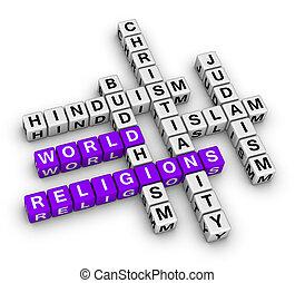 mondo, maggiore, religioni