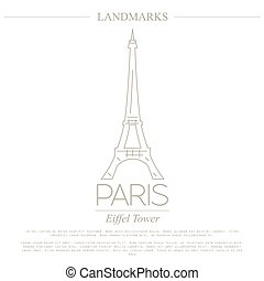 mondo, paris., landmarks., francia