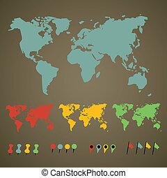 mondo, puntatori, mappa