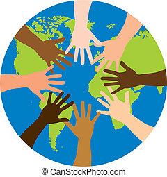 mondo, sopra, diversità