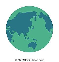 mondo, terra pianeta, isolato, icona